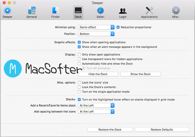 Deeper : Mac系统深度定制软件
