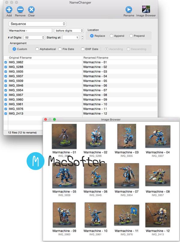 Mac 文件批量重命名工具 : NameChanger