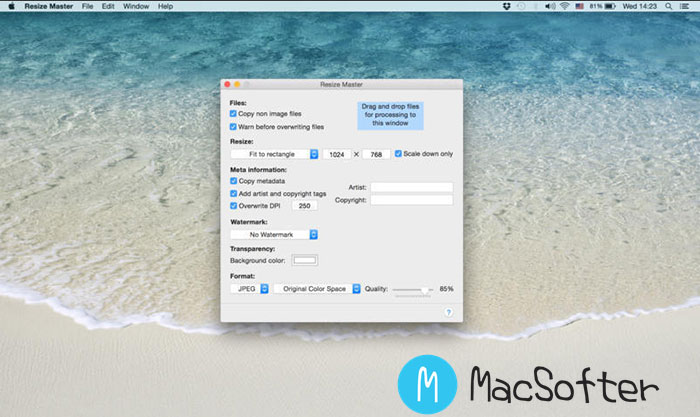 Mac 批量图片水印及批量图片大小调整工具 : Resize Master