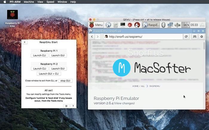 Mac 树莓派代码开发运行模拟器 : Raspberry Pi Emu