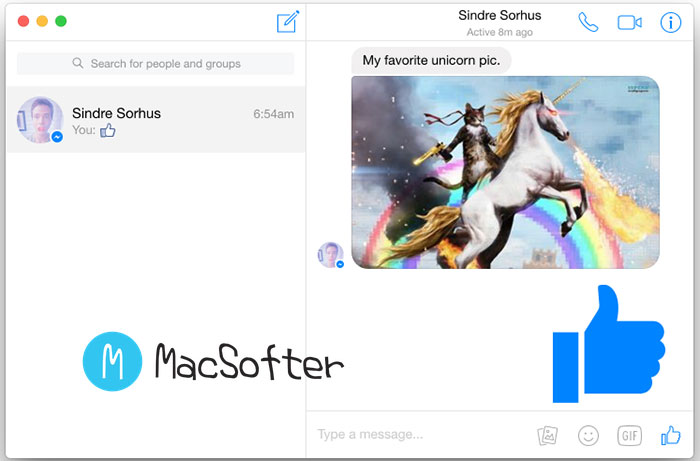 Mac优雅的Facebook脸书桌面客户端 : Caprine