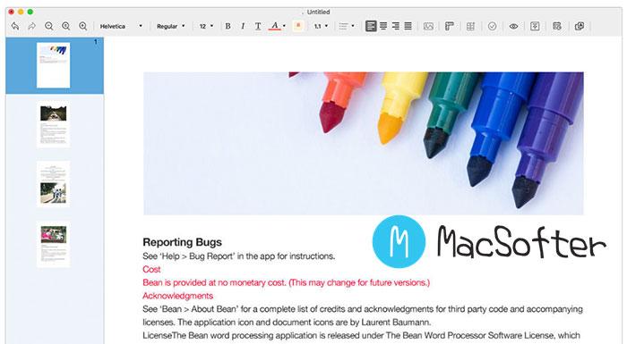 Mac 易用的文字处理工具 :Document Writer
