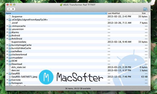 Mac电脑安卓设备文件传输文件管理工具 : Android File Transfer
