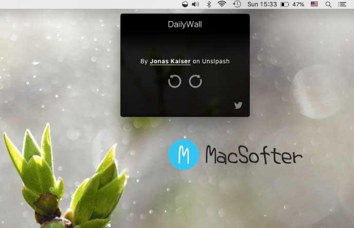 DailyWall : 每天早上10点为你的Mac电脑自动更换壁纸