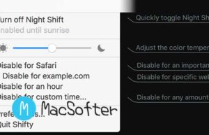 macOS菜单栏Night Shift夜视模式增强型控制工具 : Shifty