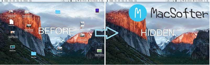 一键隐藏Mac桌面所有图标/文件/文件夹 : Desktop Ghost