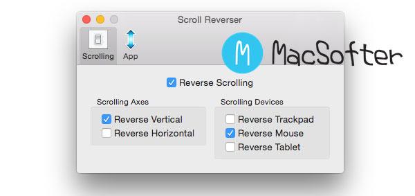 Scroll Reverser : Mac 单独设置鼠标的滚动和触摸板的滑动方向