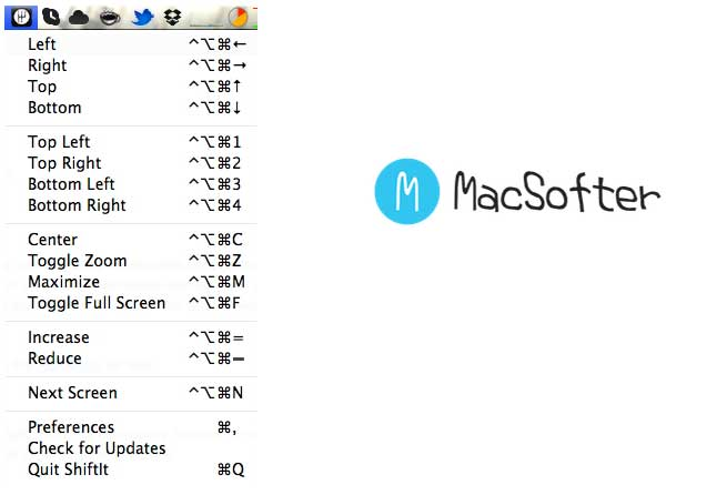 ShiftIt : Mac 快捷键一键窗口调整及管理工具