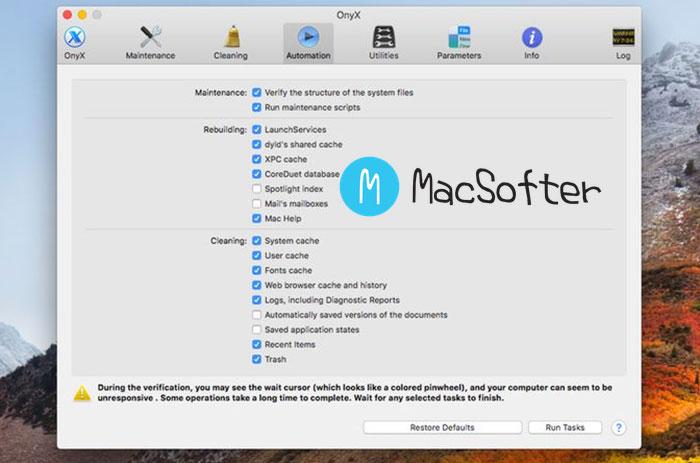 OnyX :Mac 系统维护和配置工具