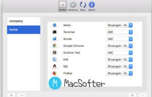 Mac 根据不同的应用程序软件自动切换输入法 : GhostSKB