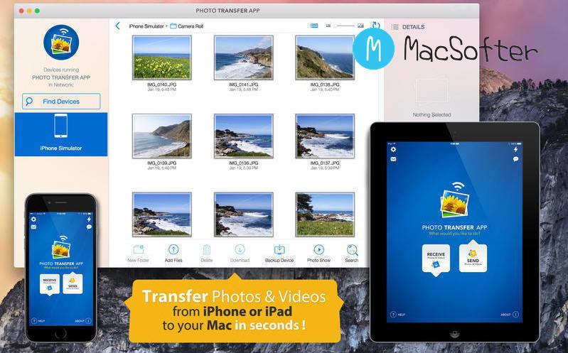 [Mac] Photo Transfer App : iOS设备和Mac之间照片视频传输工具