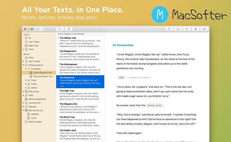 [Mac] Ulysses : 专业的文本编辑器 Mac开发工具 第1张