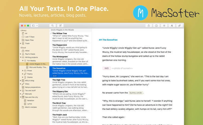 [Mac] Ulysses : 专业的文本编辑器