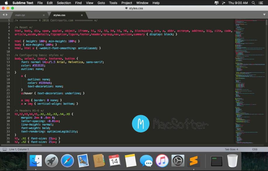 [Mac] Sublime Text : 强大的代码编辑器