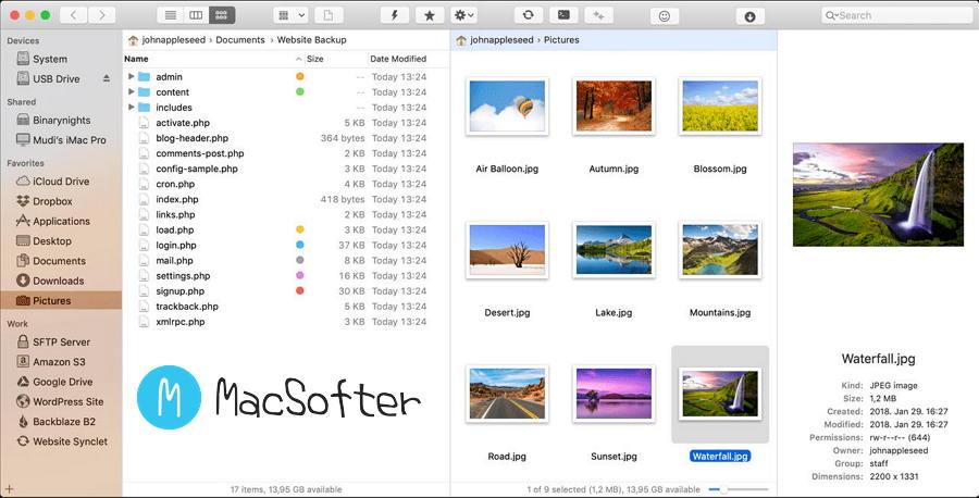 [Mac] ForkLift : 具备FTP功能的文件管理器