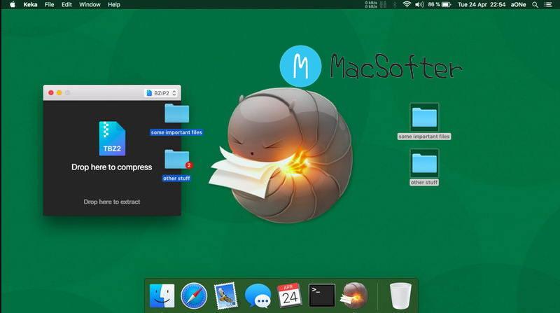 [Mac] Keka :强大方便的压缩及解压缩工具