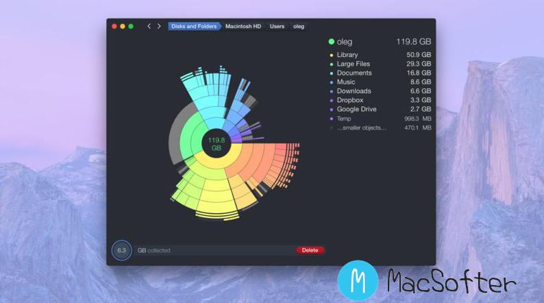[Mac] DaisyDisk : 硬盘空间存储状态可视化分析工具