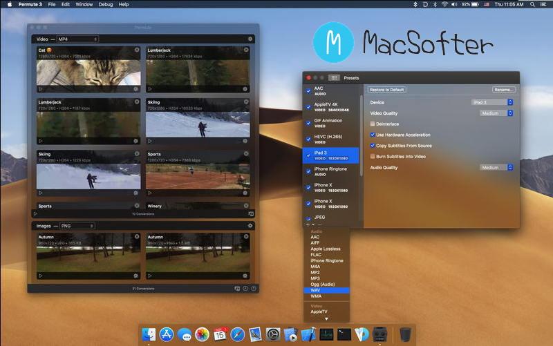 [Mac] Permute : 视频及照片格式转换工具