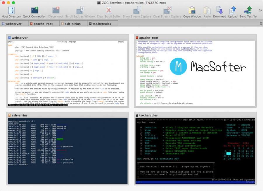 [Mac] ZOC Terminal : 强大的SSH客户端工具及终端模拟器