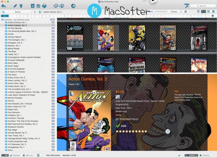 [Mac] Comic Collector :漫画数据信息管理工具