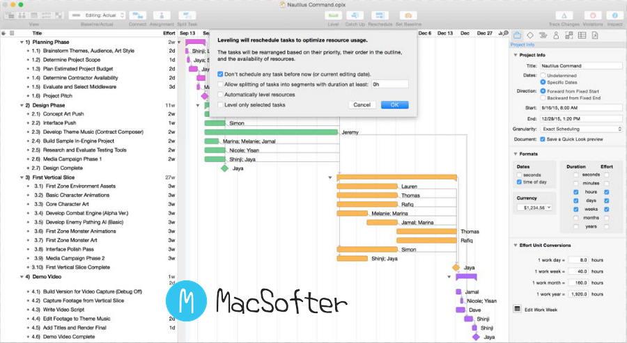 [Mac] OmniPlan Pro :功能全面强大的项目管理软件