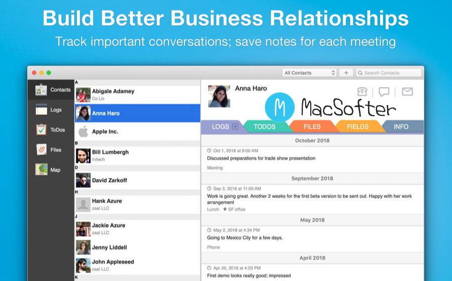 [Mac] Contacts Journal CRM : 专业的CRM管理工具