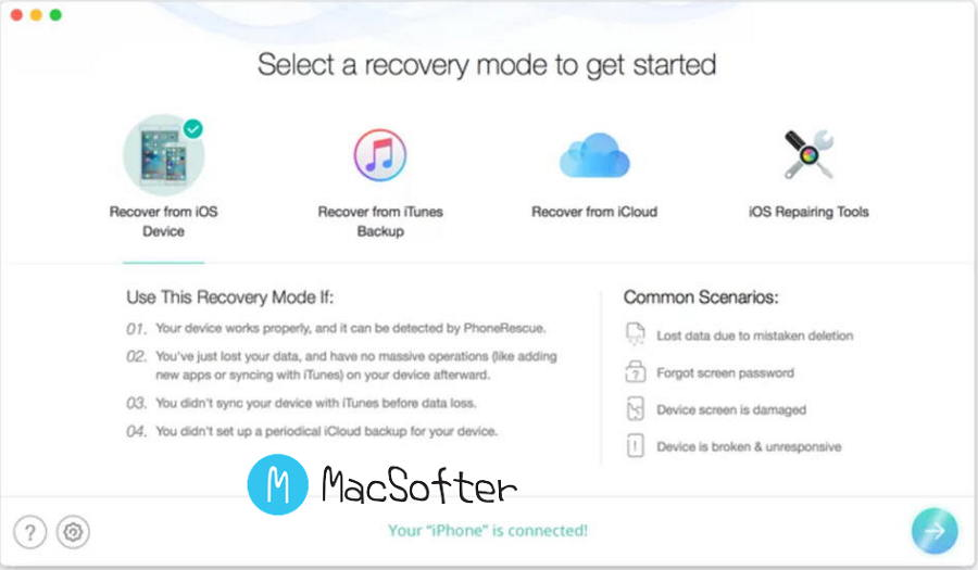 [Mac] PhoneRescue for iOS :iPhone/iPad等iOS设备数据恢复软件