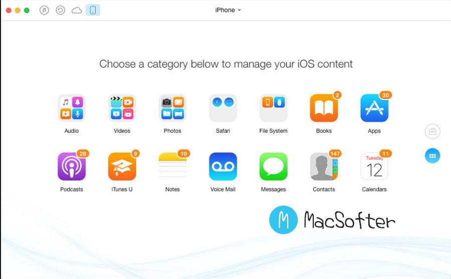 [Mac] AnyTrans for iOS :  iOS与Mac数据传输软件