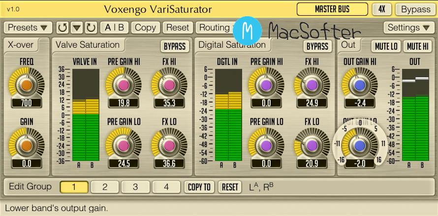 [Mac] Voxengo - VariSaturator :音频饱和度效果器