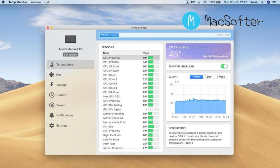 [Mac] Temp Monitor :  温度监测及风扇速度控制软件