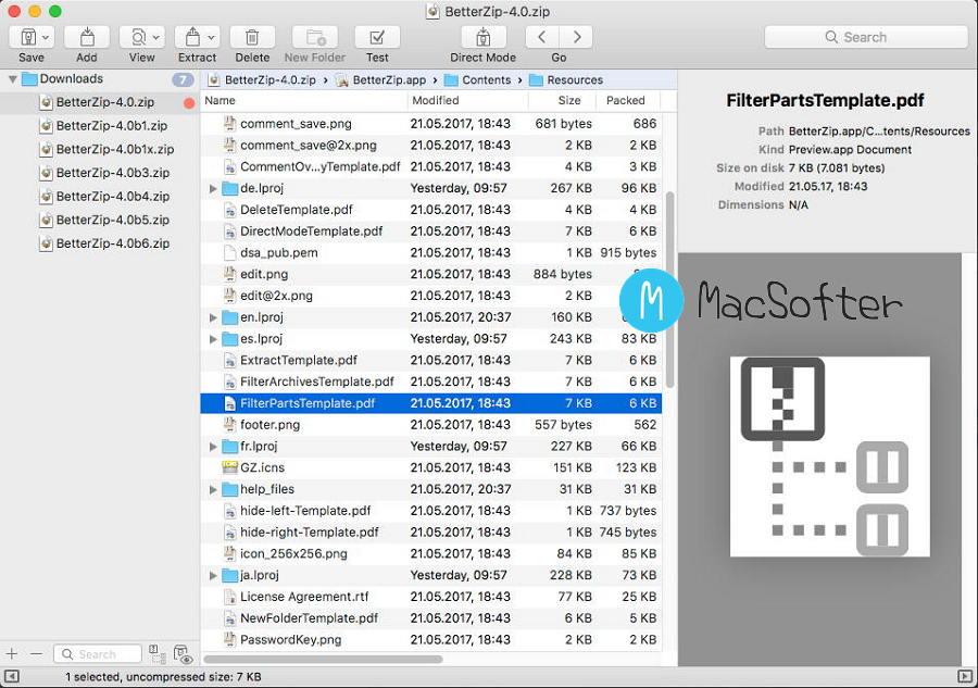 [Mac] BetterZip :最好的压缩解压缩软件