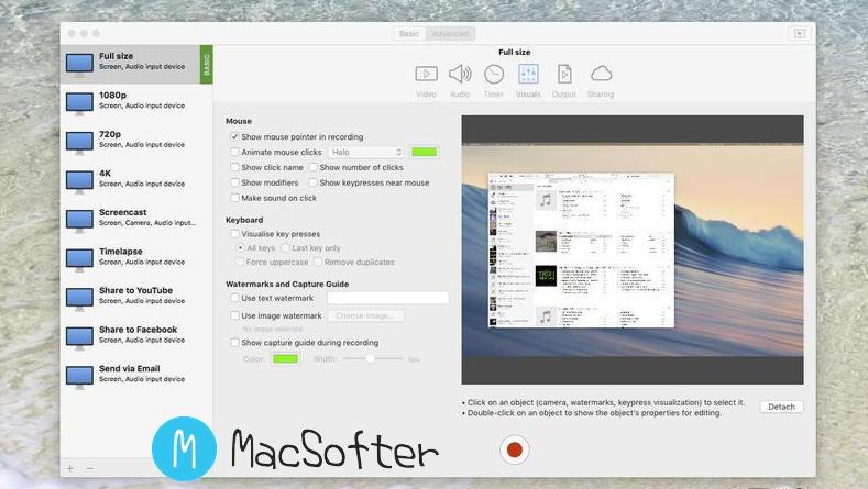 [Mac] iShowU Instant Advanced : 专业的多用途屏幕录像软件