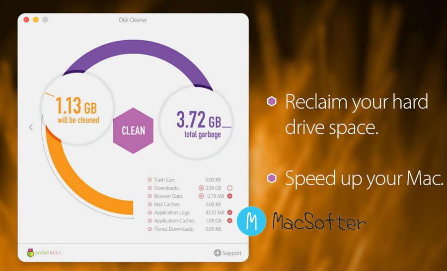[Mac] Disk Cleaner :硬盘垃圾文件清理工具