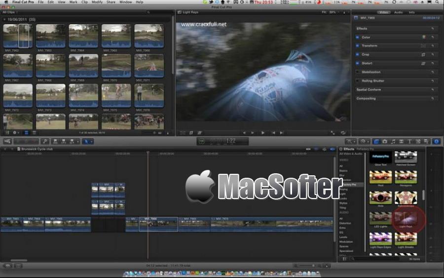 [Mac] FxFactory Pro : 视频后期特效处理插件工具包