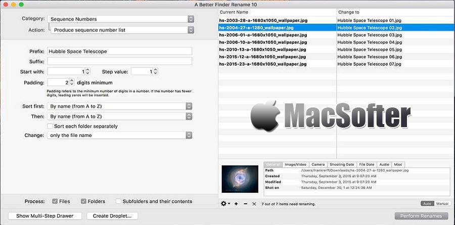 [Mac] A Better Finder Rename : 高效方便的文件批量重命名工具
