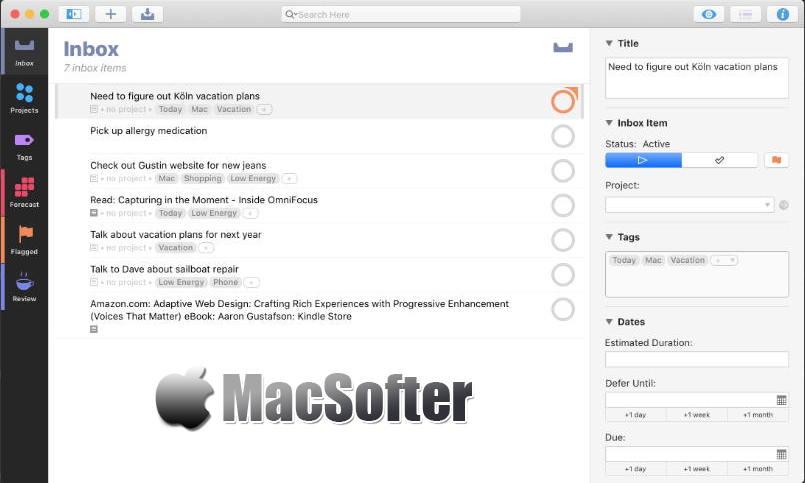 [Mac] OmniFocus :最好的GTD任务及时间管理工具