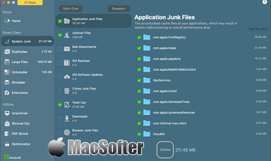 [Mac] iMac Cleaner : 实用的系统垃圾清理及软件卸载工具