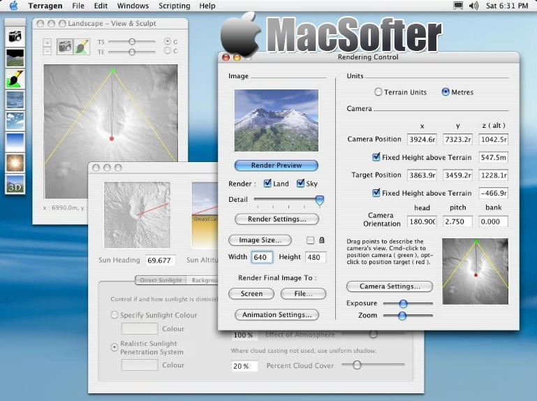 [Mac] Terragen : 自然环境景观渲染工具