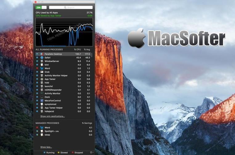 [Mac] App Tamer : 好用的电源管理软件