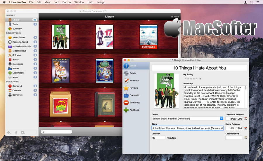 [Mac]  Librarian Pro :  个人多媒体资料库