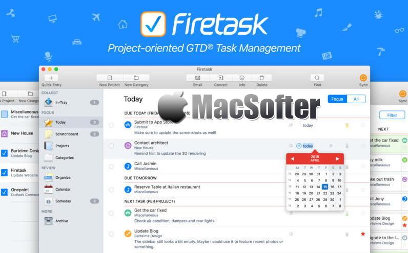 [Mac] Firetask Pro : 易用强大的GTD任务管理工具