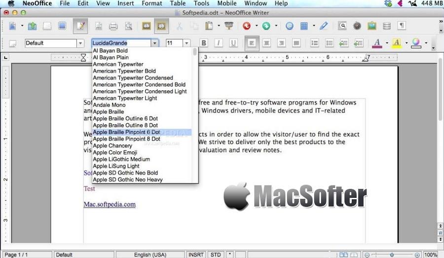 [Mac] NeoOffice :  Office(文字、表格等)办公软件套件