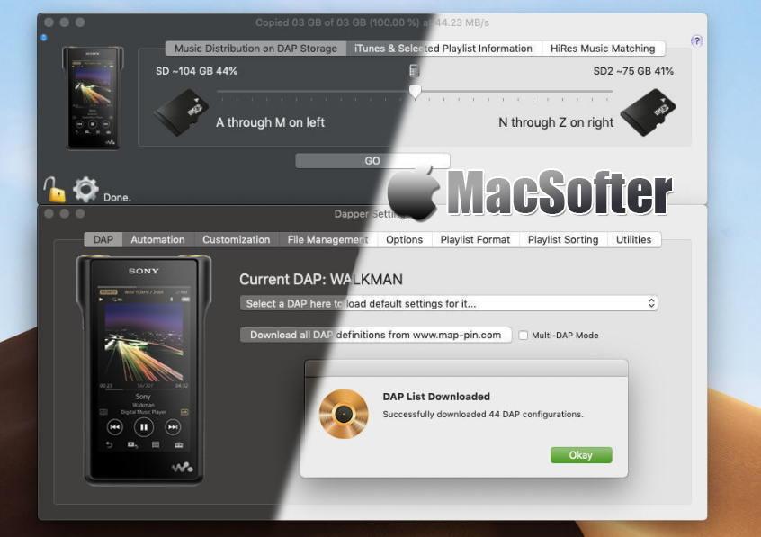 [Mac] Dapper :将iTunes音乐传输到数字随身听的音乐传输工具