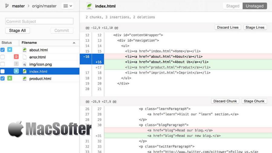 [Mac] Tower : 让版本控制更简单方便的GIT的客户端