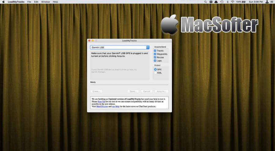 [Mac] LoadMyTracks  : 将GPS信息转换为Google Earth的GPX/KML格式