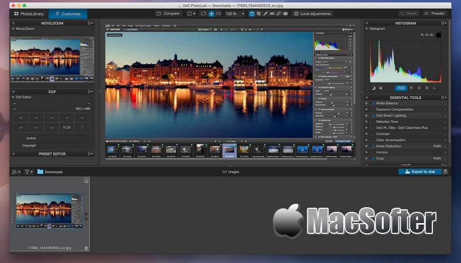 [Mac] DxO PhotoLab :支持raw的图片处理软件