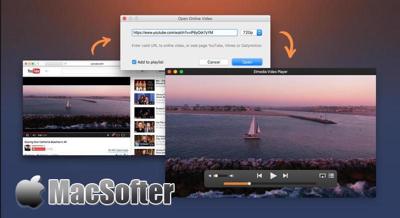 [Mac] Elmedia Video Player :支持在线网页视频播放功能的视频播放器