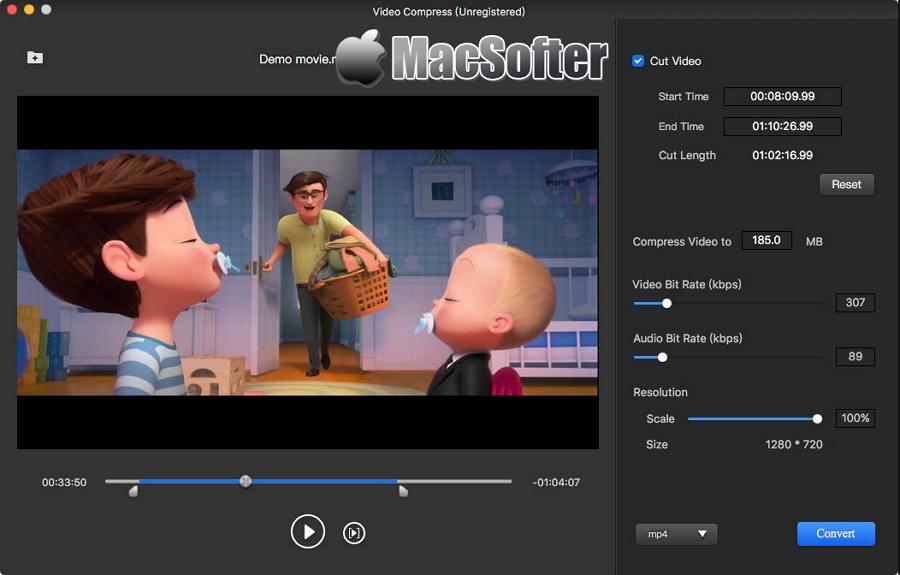 [Mac] AMS Video Compress :以压缩视频文件大小为基础的视频格式转换工具