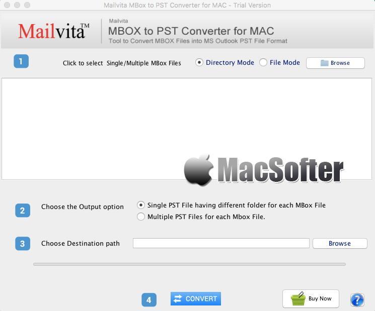 [Mac] MBOX to PST Converter : 将MBOX文件转换为PST格式的转换工具