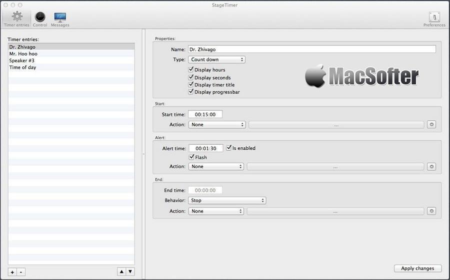 [Mac] StageTimer : 适用于主持人的主持倒计时软件